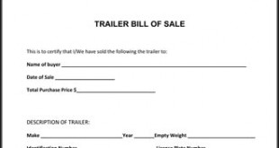 Trailer Bill Of Sale Florida Free Download Aashe