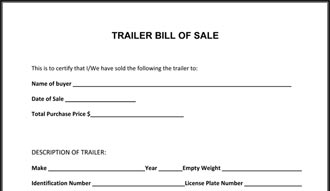 bill of sale form for a trailer aildoc productoseb co